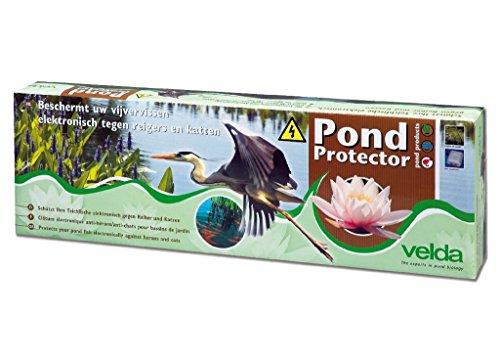 Velda 128020 Teichschutz Schwachstromzaun gegen Reiher und Katzen 1,1 Watt, Pond Protector