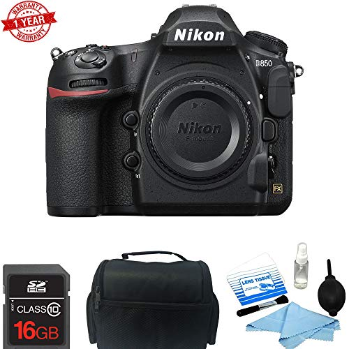 Nikon D850 DSLR Camera (Body Only) w/ 16GB MC | DSLR Bag | Cleaning Kit Bundle *Battery | Charger | Warranty*