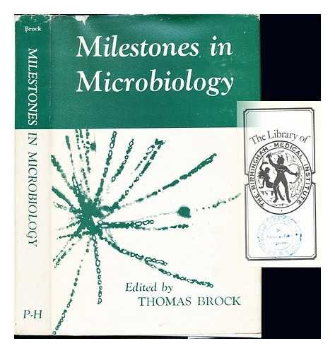 Milestones in microbiology / translated and edited by Thomas D. Brock par Thomas Dale (1926-) Brock