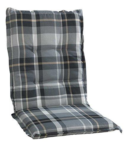 Sesselauflage Sitzpolster Gartenstuhlauflage für Mittellehner | B 50 cm x L 110 cm | Grau | Baumwolle | Polyester