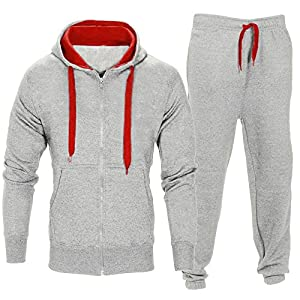 TUDUZ Herren Trainingsanzug mit Zipper Sportanzug Kapuzenpullis Jogginghose Gym Set