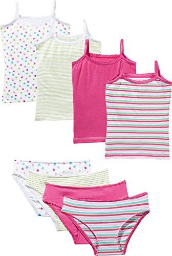 Kinderbutt Unterwäsche-Set 8-TLG. mit Druckmotiv Single-Jersey pink-Mint-bunt Größe 170/176