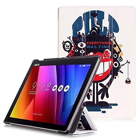 ASUS ZenPad 10 Z301ML / Z301MFL / Z300M / Z300C Étui - Housse à Rabat Fonction Réveil / Sommeil Automatique pour ASUS ZenPad 10 Z301ML / Z301MFL / Z300M / Z300C Tablette Tactile 10.1