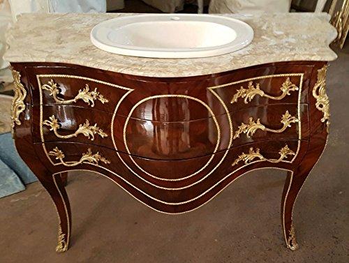 LouisXV Barock Kommode Tisch Bad Möbel Badezimmer Wasch Becken MkKm0028 Antik Stil Massivholz....