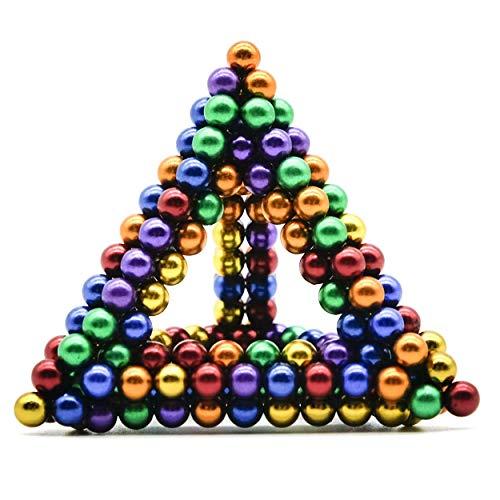 Luckyrao Potente imán Rompecabezas Bola pequeña Bola Creativa mágica Cubo presión Regalo 5mm (Colorear)