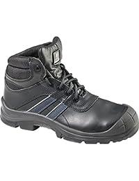 sanita antrazite zapato de seguridad ESD S3, piel, color negro, talla 46