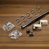SO-TECH® Küchenreling Reling Set 600mm Edelstahl-finish 16 mm Rohrdurchmesser
