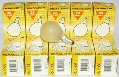 Ormalight Glühlampe Glühbirne matt E14 25W Tropfen 10 Stück Tropfenlampe von Ormalight auf Lampenhans.de
