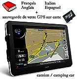GPS DWCA 7 inch HD Camping Car/Poids Lourds Europe 2018 Notice FR,an,ES,IT + Sauvegarde GPS sur Carte SD