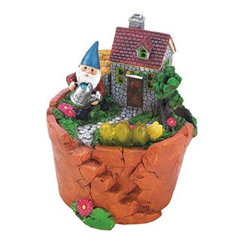 Garten Gnome-dekor (Summerfield Terrasse Terra Cotta Topf Gnome Statue, Polyresin Solar Panel, Multi Farbe, 15,2x 16,5x 17,1cm)