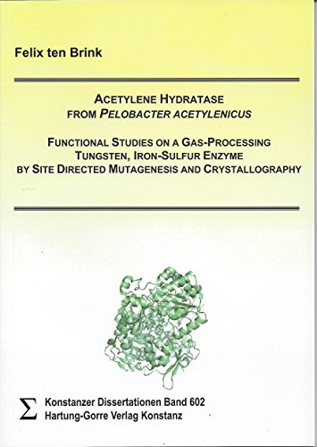 Acetylene Hydratase from Pelobacter acetylenicus: Functional Studies on a Gas-Processing Tungsten, Iron-Sulfur Enzyme by Site Directed Mutagenesis and Crystallography (Konstanzer Dissertationen)
