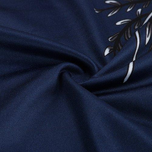 Damen Tops Strene Loveso Frauen Blumenmuster Sleeveless Halter Bügel Bluse Tankini Tops T-Shirt Blau B