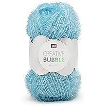 RICO Design -Gomitolo di filo, modello: Creative Bubble, per lavori a maglia e di cucito, per creare le vostre spugne tawashi e per decorazioni blu