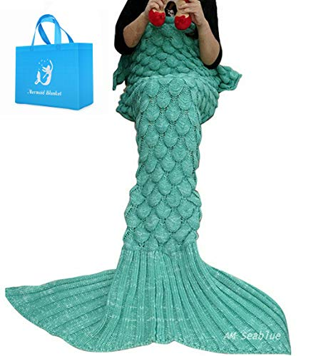 Mermaid coda,crochet mermaid coda per adulti adolescenti soggiorno camera da letto divano super soft coperte sacchi