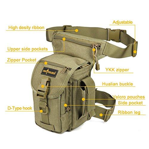 Gratis Soldier Mehrzweck-Tactical Drop Leg Tasche Utility Pouch Oberschenkel Tasche Schwarz
