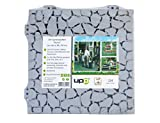 UPP Gartenplatten 30x30cm/ Terrassenplatten/Gartenweg/ Beetplatten/Bodenplatte (24 Teile, Stone)