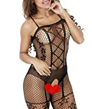Buauty Lady Mesh Bodystocking Plus Size Snap Crotch Lingerie Sexy Lingerie Dress