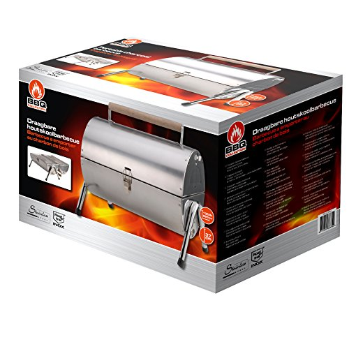 BBQ Collection - Klappgrill - Doppel Grillfläche - Edelstahl/Rost Frei Inox