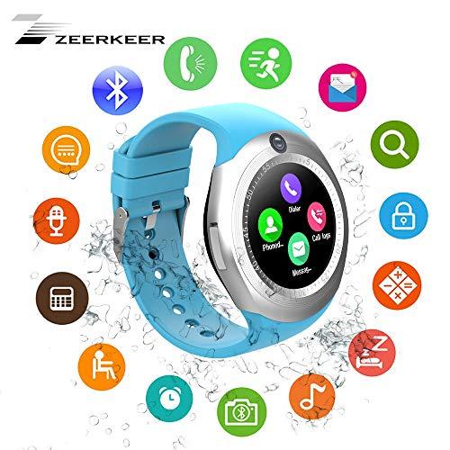 Zeerkeer Bluetooth Smart Uhr mit Schlaftracker Armband Intelligente Uhr Fitness Tracker mit Schrittzähler,Setz-Alarm,Musik Spielen,SMS, Anruf-Benachrichtigung Push für Android und iOS