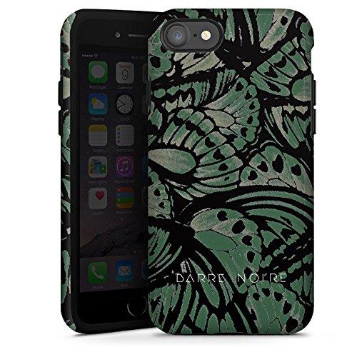 Apple iPhone X Silikon Hülle Case Schutzhülle BARRE NOIRE Mode Schmetterling Tough Case glänzend