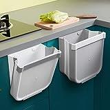 Cubos Basura Cocina Plegable Colgante,Cubo de Basura Reciclaje,Papelera de Cocina,Solo Uno
