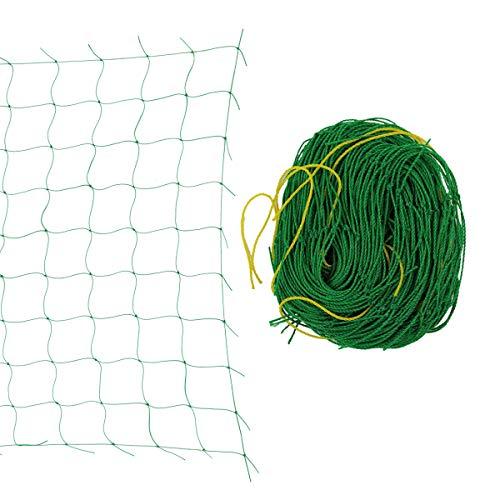 Yardwe rete per piante rampicanti nylon rete da giardino per piante,traliccio,frutta,verdura,cetriolo (2.7 x 1.8m)