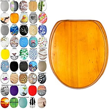 WOLTU WS2641 Abattant WC en MDF,Couvercle de WC Descente Progressive,antibact/érien Design charni/ère zingu/ée