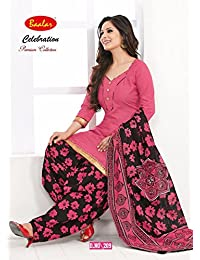 Baalar Women'S Cotton Dress Material (Multicolor_Free Size)