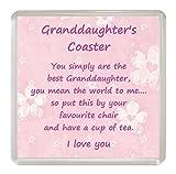 Geburtstagskarte für Enkelin, lustige Geschenkidee Untersetzer Geburtstag