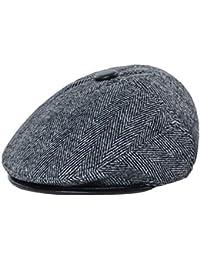 Junebao Cálido Al Aire Libre Boina Hombre Ocasionales Sombrero Moda Clásico  Gorra Transpirable Retro Hats Ajustable feb56709d35