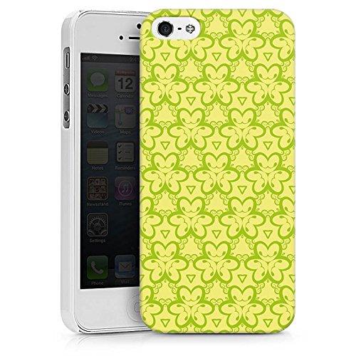 Apple iPhone X Silikon Hülle Case Schutzhülle Blumenmuster Dreiecke Gelb Hard Case weiß