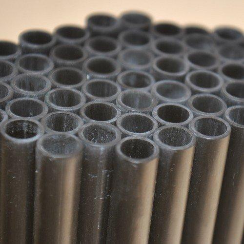 Onpira 80cm Echt Carbon Stange Hohlrohr 80cm lang Außendurchmesser 10mm schwarz matt