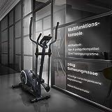 Sportstech CX625 Crosstrainer - Smartphone App kompatibel, 24 KG Schwungmasse 22 Trainingsprogrammen mit HRC-Funktion Tablet Halterung Multifunktionskonsole - 5