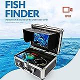 SEXTT Cámara de Pesca submarina, 7 Pulgadas HD Impermeable 15m Cable Batería Recargable Buscador de Peces Cámara de Video de Pesca submarina