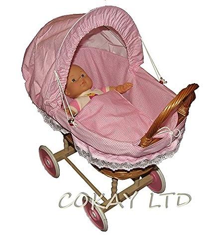 Doll Wicker Buggy/Pram / Dolls Buggy/ Pram/ Stroller /toy