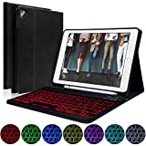 COO iPad Keyboard Case 9.7 with Pencil Holder for New iPad 2018