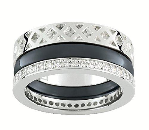 bague-guy-laroche-argent-925-1000-cramique-noir-anneaux-superposables-atv005acnz-taille-54