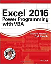 Excel 2016 Power Programming with VBA (Mr. Spreadsheet's Bookshelf) by Michael Alexander (2016-02-08)