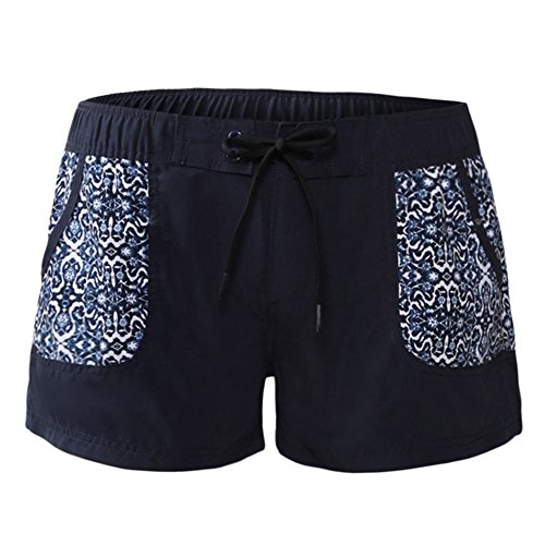 GladiolusA Damen Badeshorts Badehose Kurze Schwimmhose Bikinihose Strand Shorts Hose Wassersport S