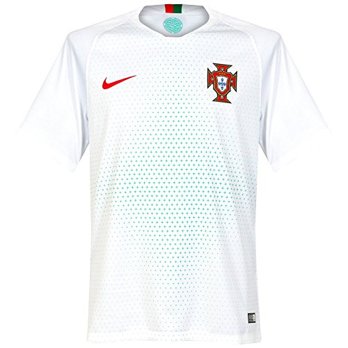 Nike Herren Portugal Away Stadium T-Shirt, weiß (White/Gym Red), M