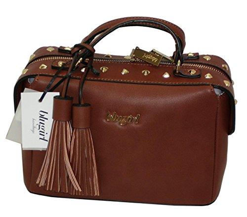 Borsa BAULETTO con tracolla due manici BLUGIRL BG 819001 shoulder bag CUOIO