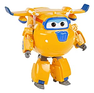 Super Wings - Donnie, transformable, con sonido y luz, 16 cm (ColorBaby 75884)