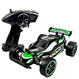 Enlarge toy image: SZJJX RC Cars Rock Off-Road Vehicle Crawler Truck 2.4Ghz 2WD High Speed 1:20 Radio Remote Control Racing Cars Electric Fast Race Buggy Hobby Car (Green)
