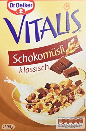 Dr. Oetker Vitalis Schoko Müsli klassisch, 4er Pack (4 x 1500 g) (Haferflocken Herrliche)
