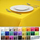 Rollmayer Tischdecke Tischtuch Tischläufer Tischwäsche Gastronomie Kollektion Vivid (Gelb 5, 100x100cm) Uni einfarbig pflegeleicht waschbar 40 Farben