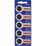 Sony CR1616BEA - Pack de 5 pilas para calculadoras y otros dispositivos electrónicos