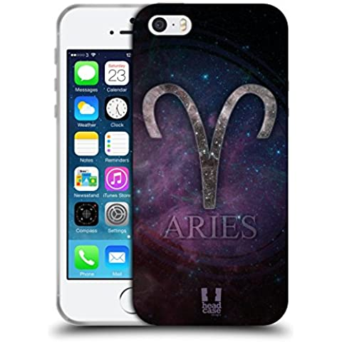 Head Case Designs Ariete Nebulose Zodiacali Simboli Cover Morbida In Gel Per Apple iPhone 5 / 5s