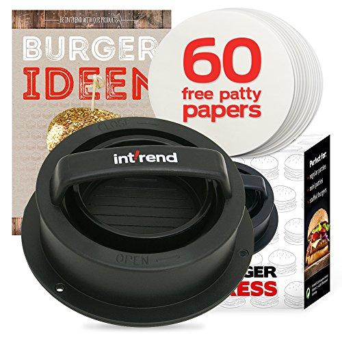 Int!rend sein mit der 3 in 1 Burger Press - Hamburger selber machen, perfekt für Frikadellen Hackfleisch Cheeseburger Buletten Burgerpresse   Patty Maker Hamburgerpresse Küchenhelfer Grillzubehör BBQ