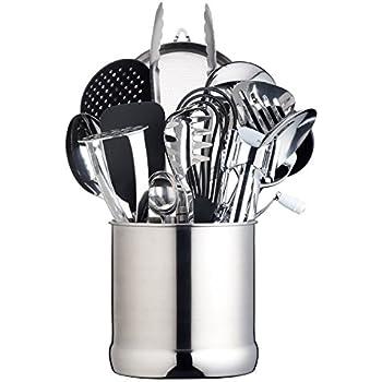 MasterClass Extra-Large Stainless Steel Kitchen Utensil Holder, 18 x 18 cm