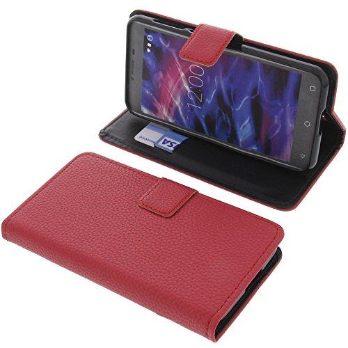 foto-kontor Tasche für MEDION Life E5008 Book Style rot Schutz Hülle Buch